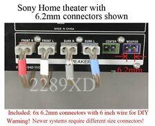 6c 6.2mm Lautsprecher Stecker für Sony DAV-S300/S400/S500/S550/S800/S880/SA30