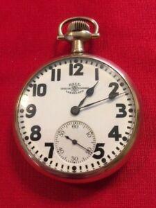 Ball-Hamilton 21j 16s 999P Official Standard Railroad Pocket Watch-Runs Great