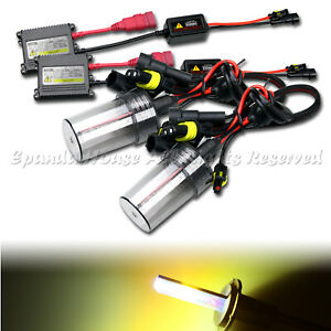 HIGH END DIY 35W 9006/HB4 SLIM HID KIT FOR LOW BEAM LIGHTS AC 3000K JDM YELLOW