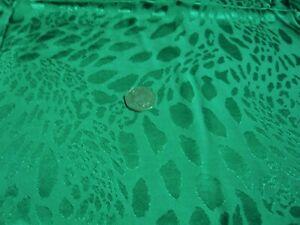 VISCOSE ANIMAL SKIN JACQUARD-GREEN -DRESS FABRIC-FREE P&P
