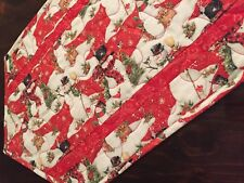 Handcrafted - Quilted Table Runner - Winter Wonderland - Do You Want a Snowman