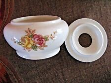 Early 20th c Devon Ware Hair Vessel or Rose Bowl? Fun!
