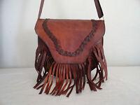 Vintage Leather Crossbody Messenger Bag Women Handbag Hobo Shoulder Bags