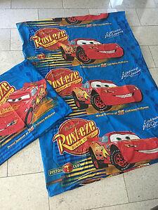 Disney® Kinder Wende-Bettwäsche Cars Lightning + Hook 80 x 80 cm + 135 x 200 cm
