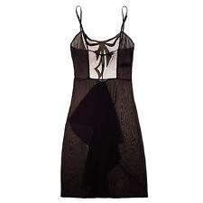 La Perla Donna Eleonora M Silk Gown Chemise Slip Black New