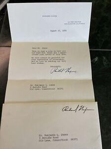 Richard Nixon President Signed Letter dated 8/10/1979
