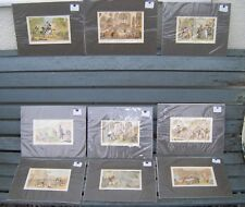 Set of 9 Dr SYNTAX Chromo Lithographs by THOMAS ROWLANDSON c 1880 - MOUNTED