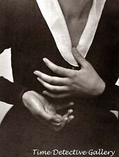 Georgia O'Keefe's Hands (1) by Alfred Stieglitz - 1917 - Historic Photo Print