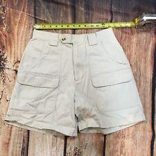 Dressbarn Women Cargo Shorts Size 6 Khaki Pockets Casual Walking Shorts - C43