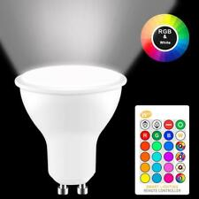 GU10 LED Lights Bulbs 8W Spotlight Bulb Lamp RGB 16 Colour Changing Light Remote