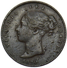 More details for 1844 third farthing - victoria british copper coin