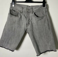 Vintage Levis Mens Cut Off Shorts Size W30 Inch Grey