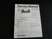 ORIGINALI service manual TECHNICS sl-ch550