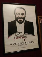 Framed Poster Of Luciano Pavarotti Resorts International 1983