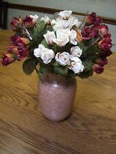 "4 Bunches of Multi-color Silk Mini Roses/13"" Tall"