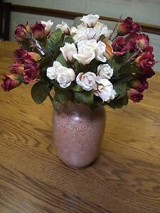 """4 Bunches of Multi-color Silk Mini Roses/13"""" Tall"""