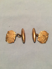 Vintage rolled gold cuff links engraved G.T.