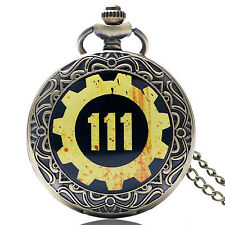New Vault 111 Pocket Watch Fallout Pip Boy Nuka Cola Full Hunter Enamel Chained