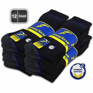 12 Paar GOODYEAR Arbeitssocken Work Socken Herren Business Socken Strümpfe 41-50
