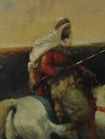 Adolf Schreyer (1828-1899) Arabic soldiers on horseback