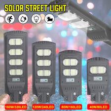 LED Solar Power Street Light Body Sensor Outdoor Powered Path Lamp40/80/120/160W