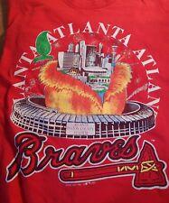 Vtg 1992 Atlanta Braves MLB Signal TShirt Size L Fulton County Stadium