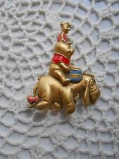 Vintage Disney Brooch/Pin; Pooh w/Honey Pot,  Piglet and Eeyore