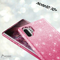 Pink Glitter Bling TPU Jelly Gel Case Cover For Samsung Galaxy Note 10 Plus