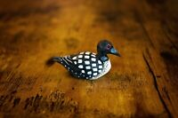 Common Loon - Miniature Duck Hand-Painted Wooden Art Decoy Carved Bird Figurine