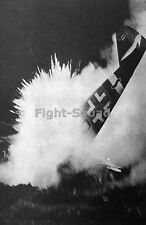 WW2 Picture Photo 1944 The exact moment when a Bf 109 crashed into ground 228 DE