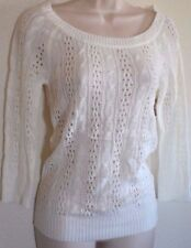 DREAM OUT LOUD by Selena Gomez Knit See-threw Casual Sweater size XS  White