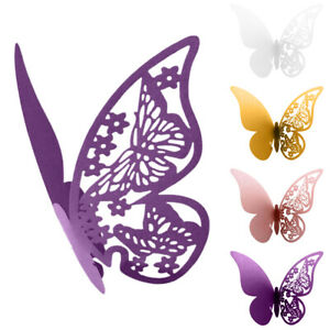 Butterfly Name Place Cards Wine Glass Cut On Pearlescent Card Wedding Supplies