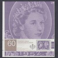 Pos.7 = QUEEN = Souvenir Sheet from UNCUT sheet # 2540ai Canada 2012 MNH