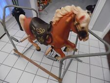 VINTAGE CHARGER ROCKING & BOUNCING RIDING HORSE SPRING ACTION 1970's