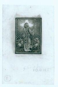 Original J.J. Lankes wood engraving, Shepherd and lambs, pencil signed