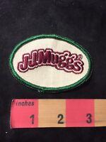 Vintage JJ MUGGS STADIUM GRILL RESTAURANT Advertising Patch 89E5