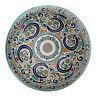 Marokkanisches Becken Handbemaltes rund Waschbecken Spüle  Keramik D41cm FES-XI