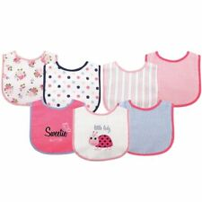 Luvable Friends Girl Drooler Bib with Waterproof Back, 7-Pack, Ladybug