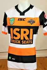WEST TIGERS PLAYER ISSUED MATCH JERSEY WITH GPS PK   MENS SIZE LARGE
