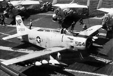 "Douglas A-1H Skyraider Barn Owls USS Hancock 13""x 19"" Vietnam Photo Poster 145"