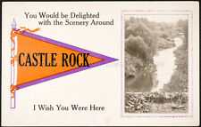 Castle Rock, I wish you were here, Pennant Printed Postcard, Divided back
