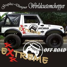 2 KIT ADESIVI STICKERS FUORISTRADA SUZUKI ADVENTURE EXTREME 4X4 OFF ROAD JEEP