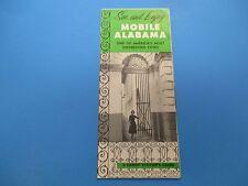 Vintage Travel Brochure, See and Enjoy Mobile, Alabama, Visitor Guide, S297
