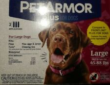 PetArmor Plus for dogs 45-88 lbs. 3 applications New, Sealed