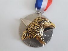 Hallmark Keepsake Ornament 2002 Medal For America - Patriotic  hhQX2936-DB