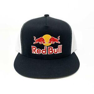 Red Bull Trucker Hat Black & White