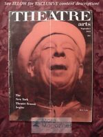 THEATRE ARTS September 1951 Orson Welles Serge Koussevitzky Gian-Carlo Menotti