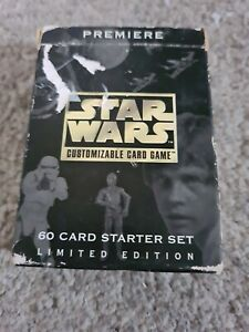 Star Wars Customizable Card Game Premiere 60 Card Starter Set Good Condition