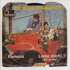 """45 giri DIE BLUE DIAMANTI Vinile SP 7"""" RAMONA - FONTANA 266193"""