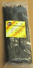 Pack of 100 Black Fascette 200mmx2.5mm. venditore UK